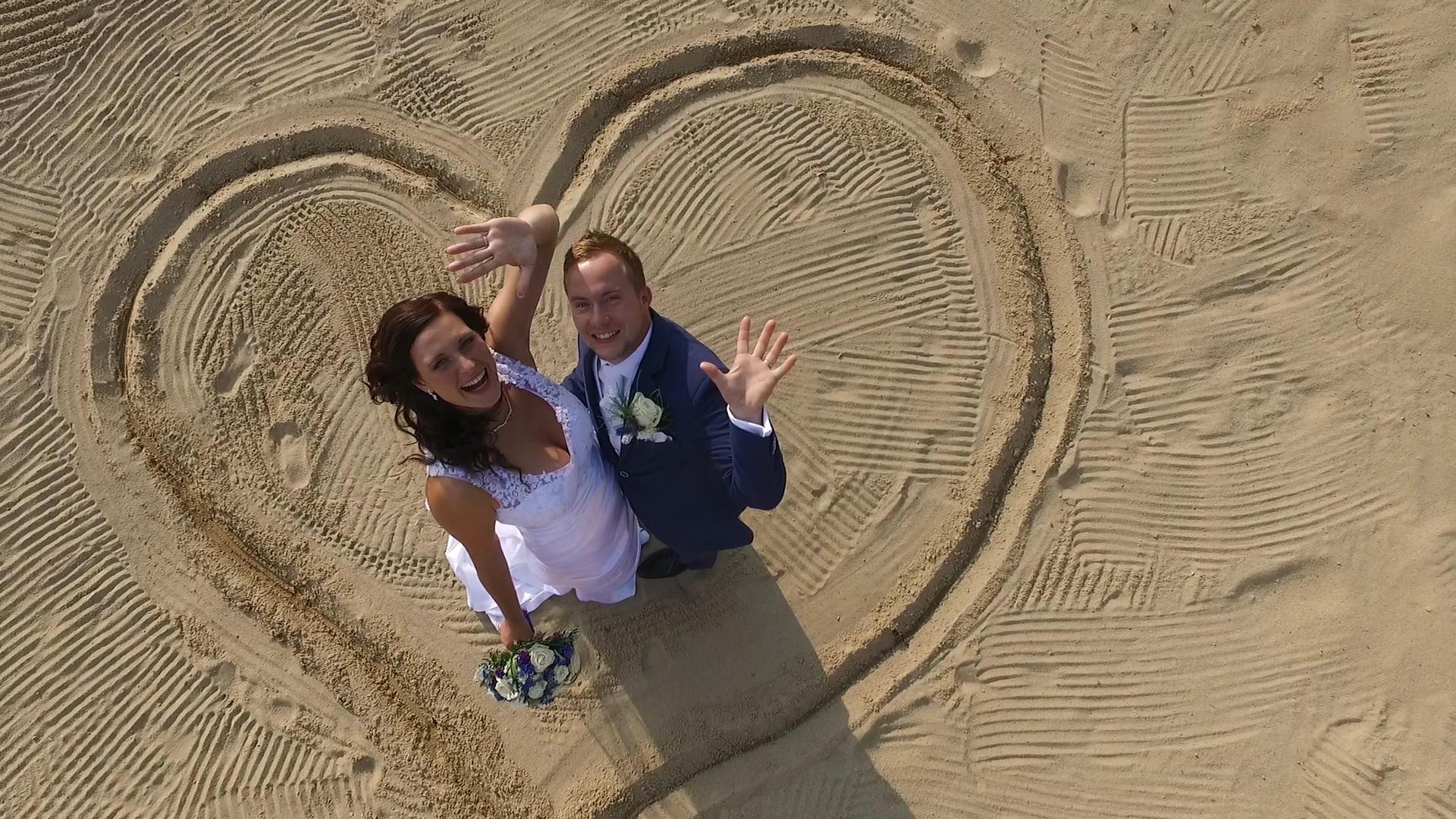 Svatební fotka z dronu