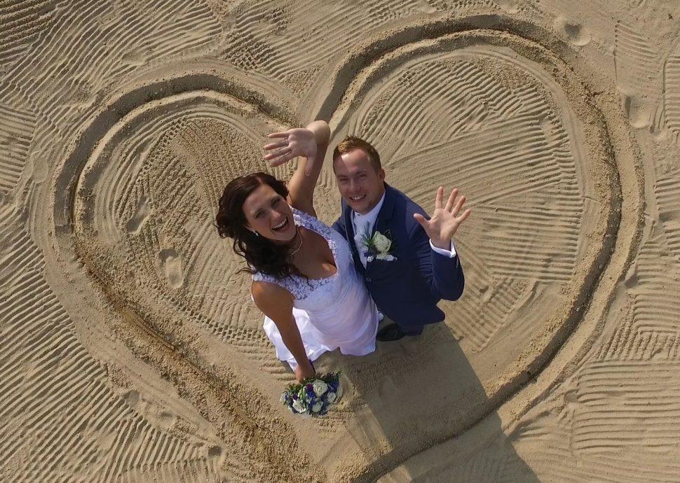 Svatební fotka zdronu